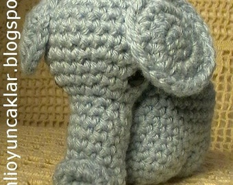 Crocheted Blue Elephant