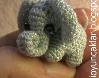 Amigurumi 0.8 inc Miniature Elephant Pattern