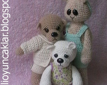 Crochet Outfits Pattern for Teddy and Bunny