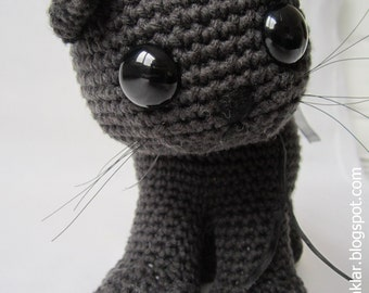 Crocheted Cotton Black Cat