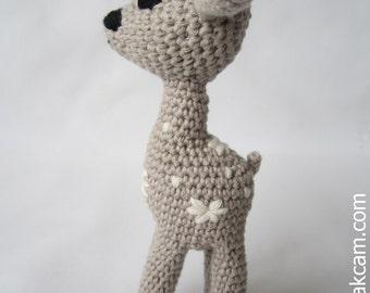 Crocheted  Bambi -  made from certified 100%  organic cotton garn
