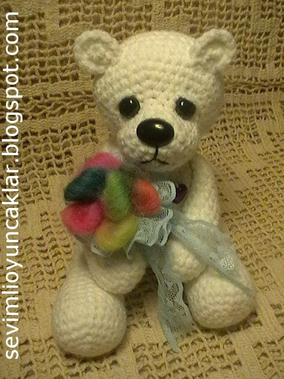 Amigurumi Polar Bear Pattern by Denizmum on Etsy