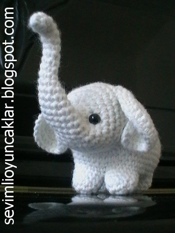 Crochet Patterns Elephant : Amigurumi Baby Elephant Pattern by Denizmum on Etsy