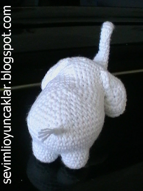 Elephant Ears Knitting Pattern : Amigurumi Baby Elephant Pattern from Denizmum on Etsy Studio