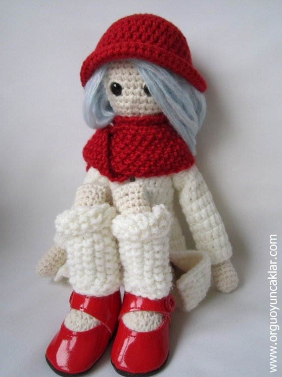 Amigurumi Winter Doll Pattern by Denizmum on Etsy