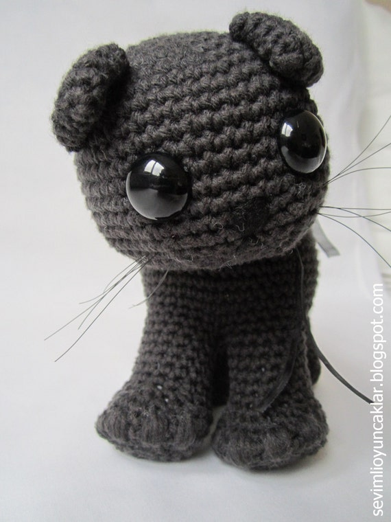 Crocheted Cotton Black Cat