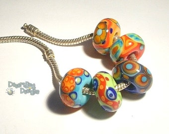 FUN Handmade Lampwork Beads  Colors Colors fits 5mm hole Eurostyle Bracelets