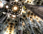 Sagrada Familia ceiling 10,5x7 - Fine Art Photography