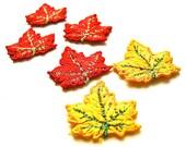 Don't Leaf Them Behind - Vintage Maple Leaf Appliques