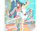 Posed and Pretty - Vintage 1953 Ballerina Paint by Number