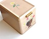 Shabby Chic Storage - Vintage Ransburg Tin