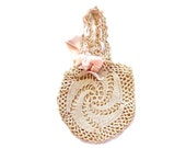 A Darling Accessory - Vintage Shabby Chic Crocheted Purse