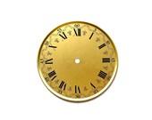 Nothing Outlasts Time - Vintage West German Metal Clock Face