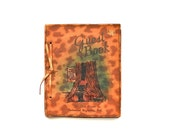 Tree Hugging Guests - Vintage Blank Leather Souvenir Guest Book