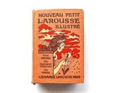 Fancy French - Antique 1926 French Larousse Illustrated Encyclopedia