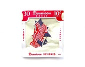 Oh Say Can You See - Vintage Dennison Gummed Flags