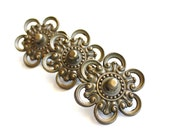 Get a Handle on It - Antique Brass Flower Drawer Pulls