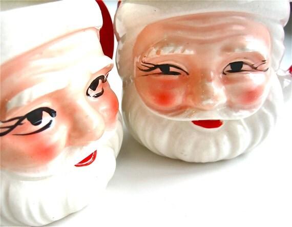 Sipping From Santa - Vintage Santa Mugs Made in Japan