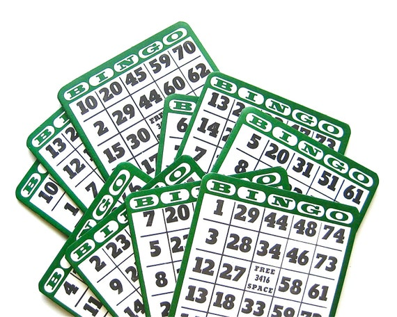 Let's Play - Vintage Thick Bingo Cards/Boards