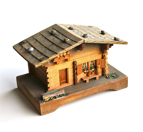 A Musical Chalet - Vintage Music Box Made in Switzerland