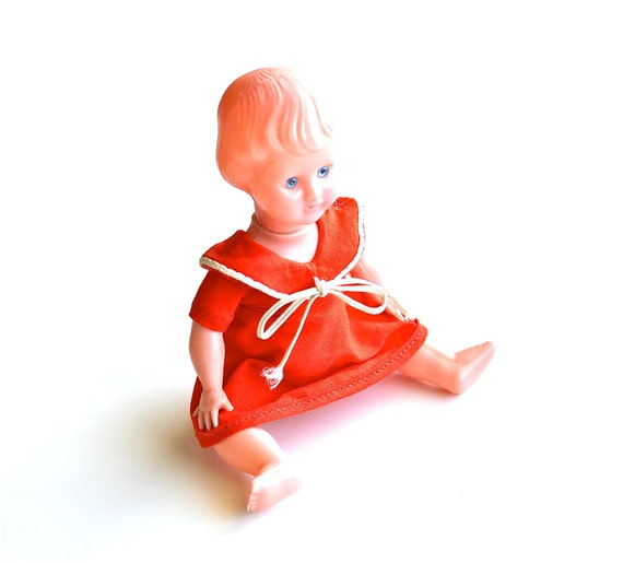 Dressed in Orange - Vintage Doll
