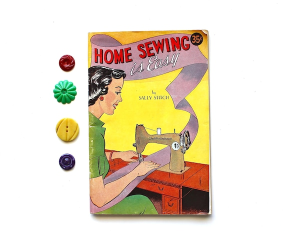 The Sewing Comics - Vintage Home Sewing is Easy Booklet by Sally Stitch