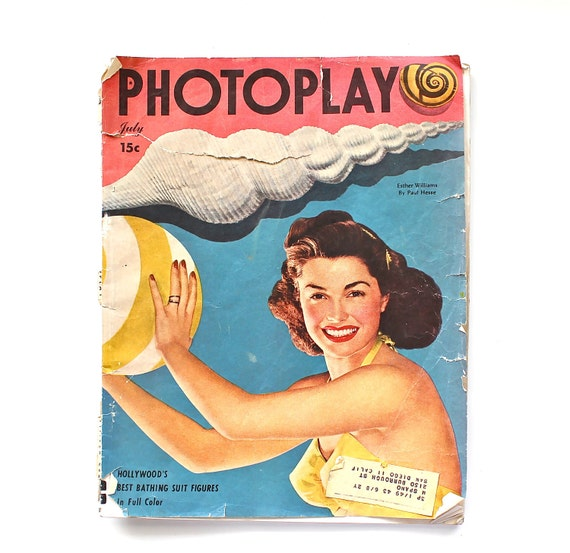 Get Ready for Summer - Vintage July 1948 Photoplay Magazine