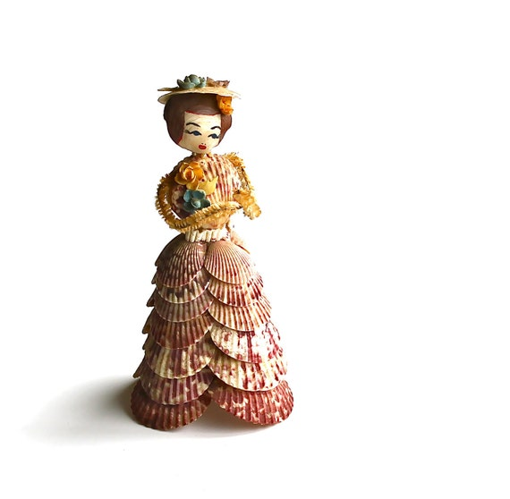 She Sells Sea Shells - Vintage Shell Lady With Chenille Arms