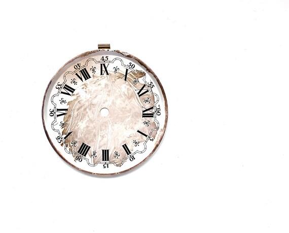 Time Out - Vintage Paint Splattered Metal Clock Face