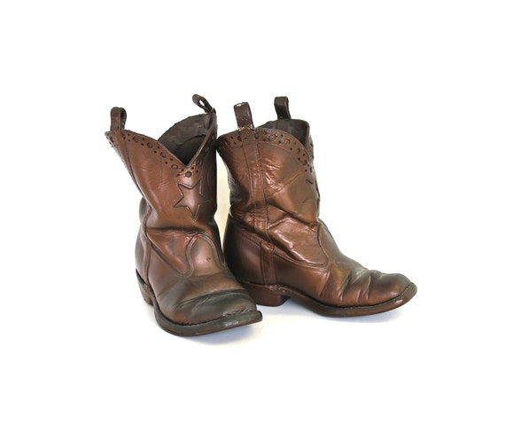 Lone Star Cowboy - Vintage Bronzed Leather Children's Cowboy Boots