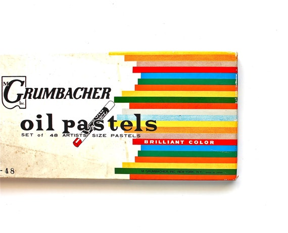 Color Your World - Vintage Oil Pastels - Set of 48 Grumbacher Pastels