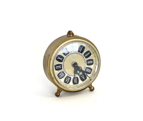Wake Up - Vintage Brass Mid Century West German Alarm Clock