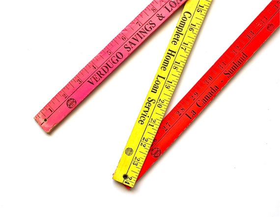 It's All Neon to Me - Vintage Neon Folding Advertisement Ruler