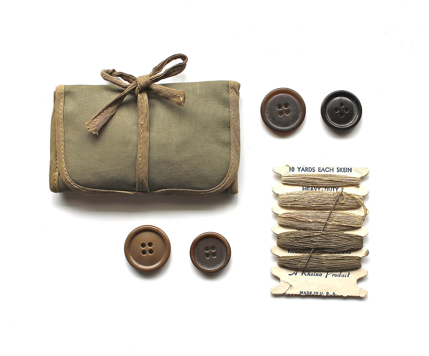 I m in the army now vintage military sewing kit