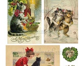 Christmas Cats I - four pages, 8.5 x 11, digital download, PDF file