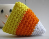 Amigurumi Crocheted Candy Corn Plush Halloween Toy - Waldorf Inspired