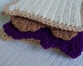 Peanut Butter and Jelly Crocheted Sandwich Play Food  Lunch YUM - ECO FRIENDLY Children's Play Food