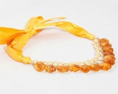 Citrine Ribbon Necklace