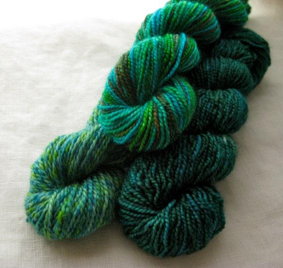 Handpainted Yarn Mini Skein Set: Emerald Isle on 100% Supermerino Sock