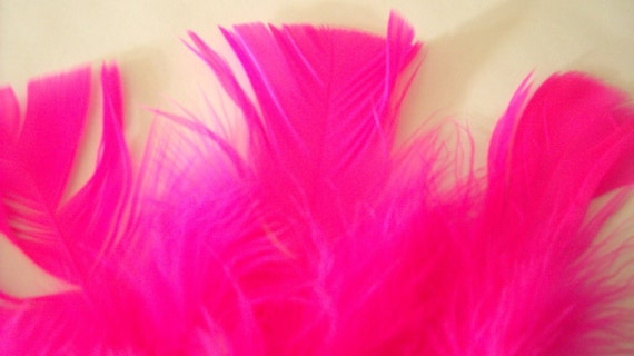 Hot Pink  Feathers - Marabou - 100 Turkey Feathers