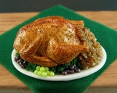 Roast Turkey with Stuffing and Grapes