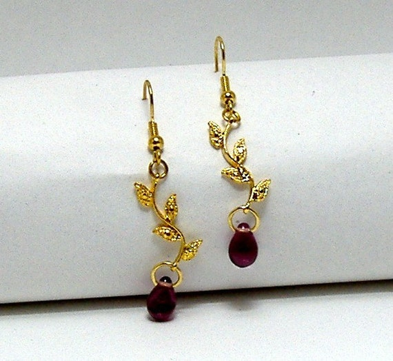 Purple Rain Earrings for Sensitive Ears