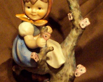 Vintage Springtime Apple tree girl figurine Hummel TMK3