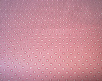 SALE 25% OFF Coral Pink Dot Penelope by Lakehouse  one yard