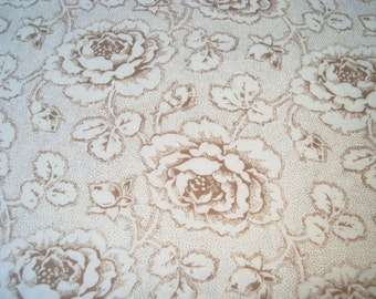 Penelope by Lakehouse floral in Tea one yard
