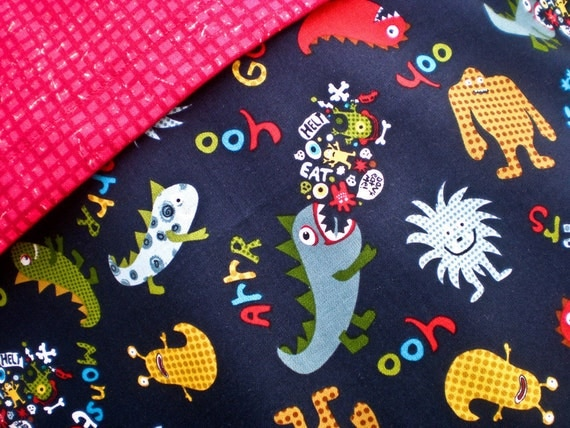 Monsters Car Seat Blanket (Car Seat Canopy with Elastic)