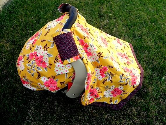 SALE Flea Market Fancy Car Seat Blanket (Car Seat Canopy with Elastic)