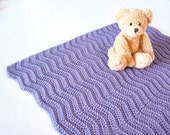 Soft and Cozy LAVENDER Purple Baby Blanket - Beautiful and Luxuriously Handcrafted CROCHET Blanket - FREE Worldwide Shipping