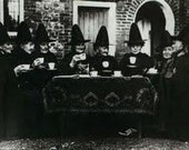 """Witches Tea Party (8x10""""), The Ladies of Trinity Hospital at Castle (Group photo), Samhain"""