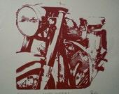 Moto Guzzi Print on Paper
